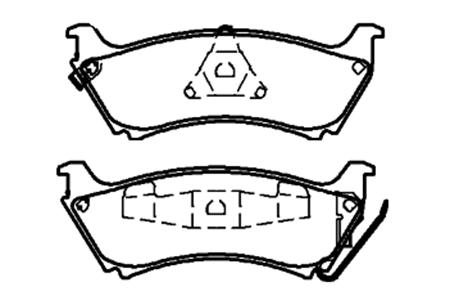 BY-1004奔驰W163刹车片供应