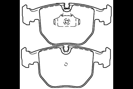 BY-2001宝马5系 7系 X5 M5刹车片